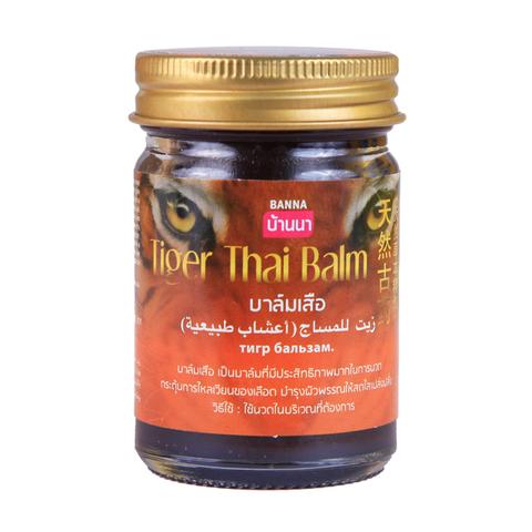 Тайский тигровый бальзам Tiger Thai Balm Banna, 50 гр