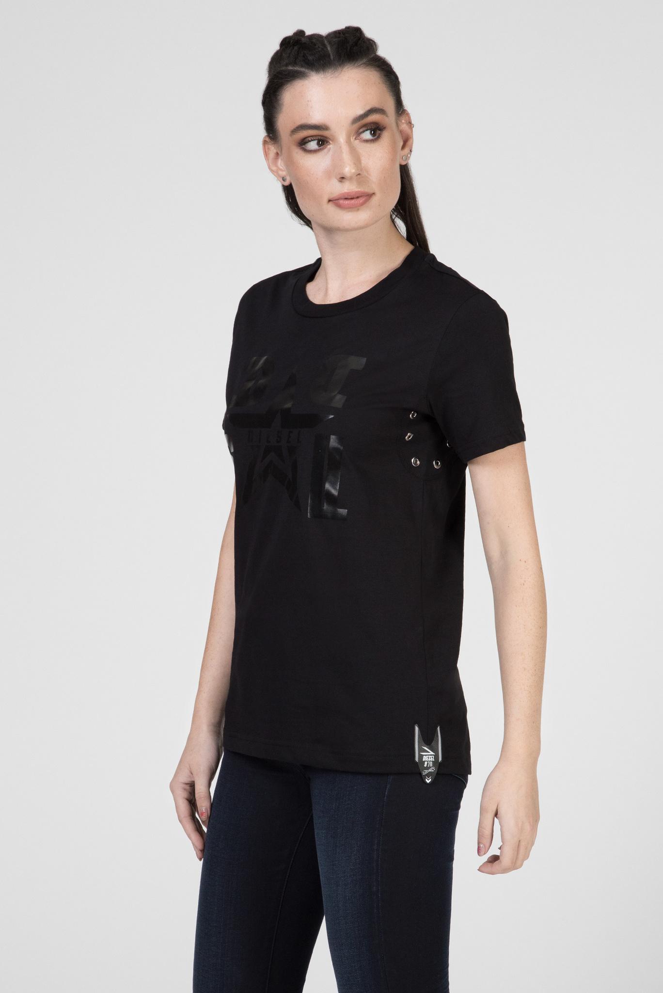 Женская черная футболка T-SILY-WMA MAGLIETTA Diesel
