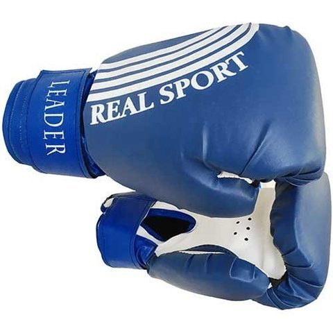 Перчатки боксерские LEADER  10 унций, синий (ЕвСп) (LEADER  10 синий)