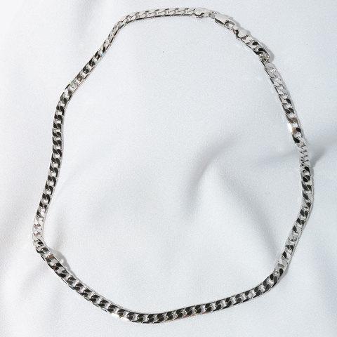 Цепь панцирного плетения 5мм 50см (серебристый)