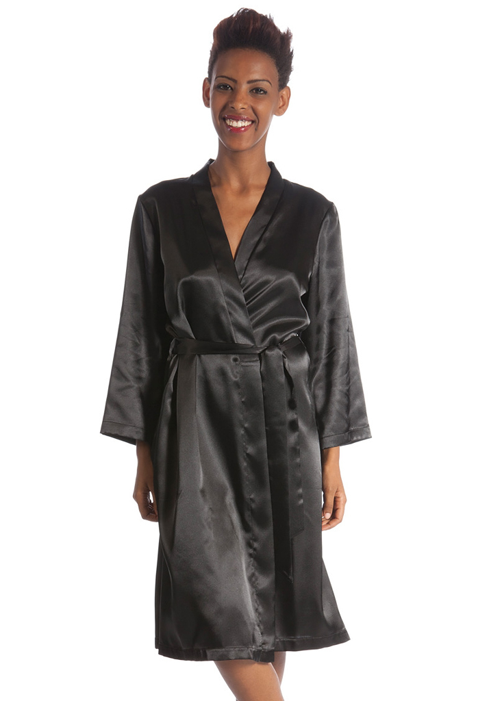 Домашний комплект из шелка: халат и сорочка B&B