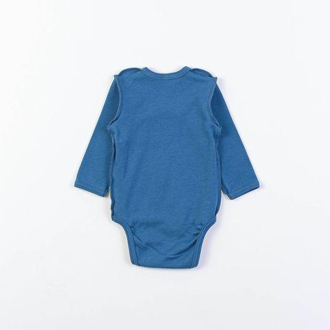 Long-sleeved kimono bodysuit 0+, Indigo