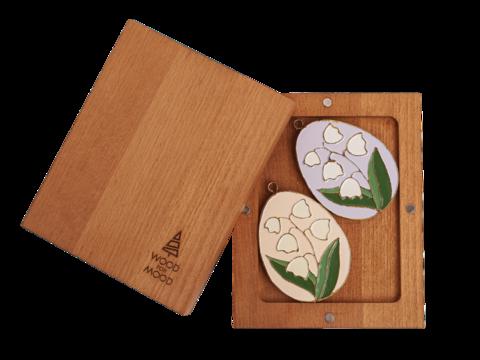 Подарочный набор из двух больших пасхальных яиц в маленькой коробке