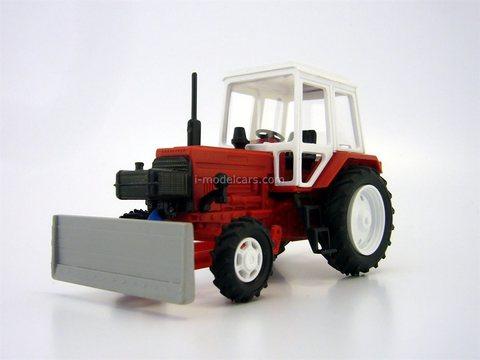 Bulldozer DZ-82 base MTZ-82 plastic red 1:43 Agat Mossar Tantal
