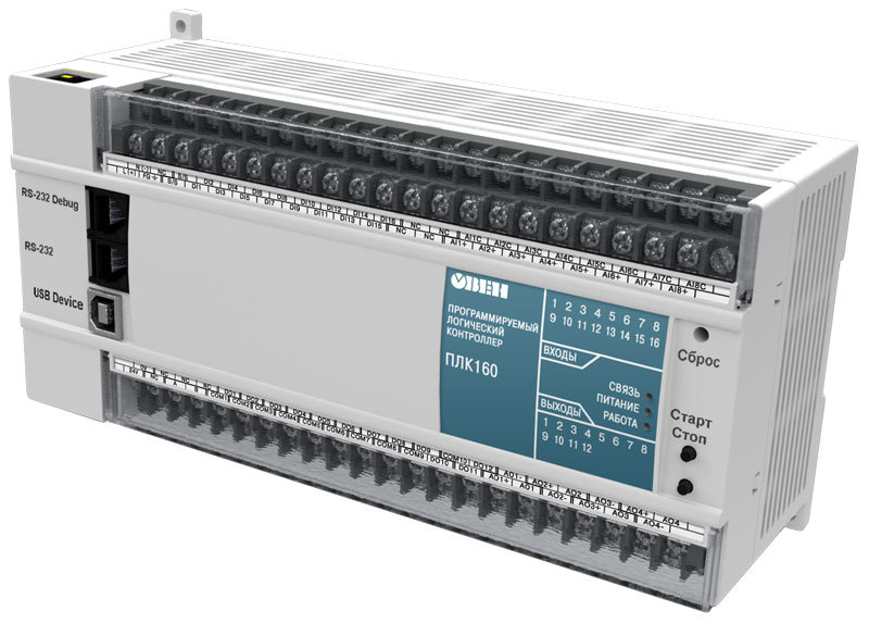 ПЛК160 контроллер для средних систем автоматизации с AI/DI/DO/AO