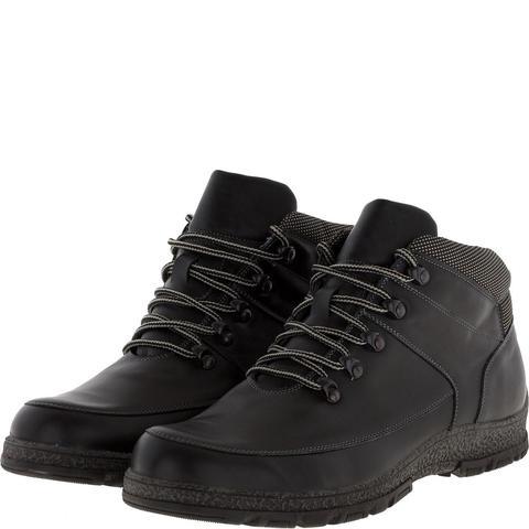 636316 Ботинки мужские ченые кожа. КупиРазмер — обувь больших размеров марки Делфино