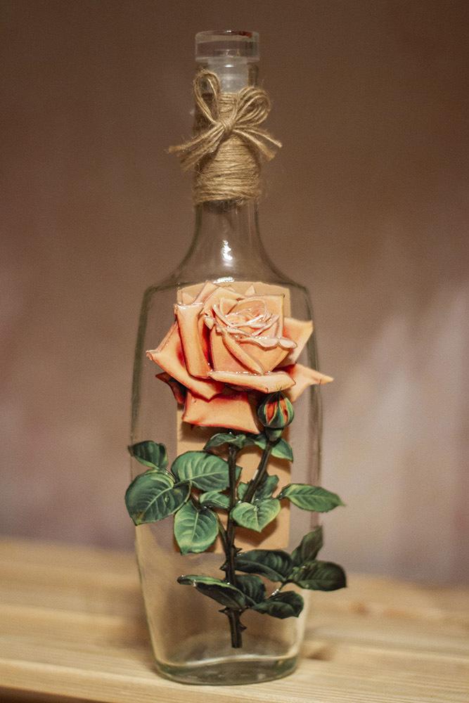 Папертоль Винтажная роза - пример оформления готовой работы