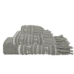Santorini anchors towel set / grey