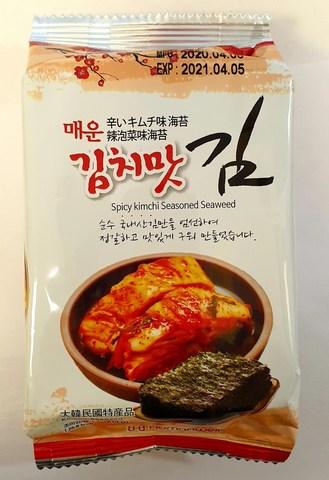 Сушеная морская капуста со вкусом кимчи, 4 гр. (72 шт)