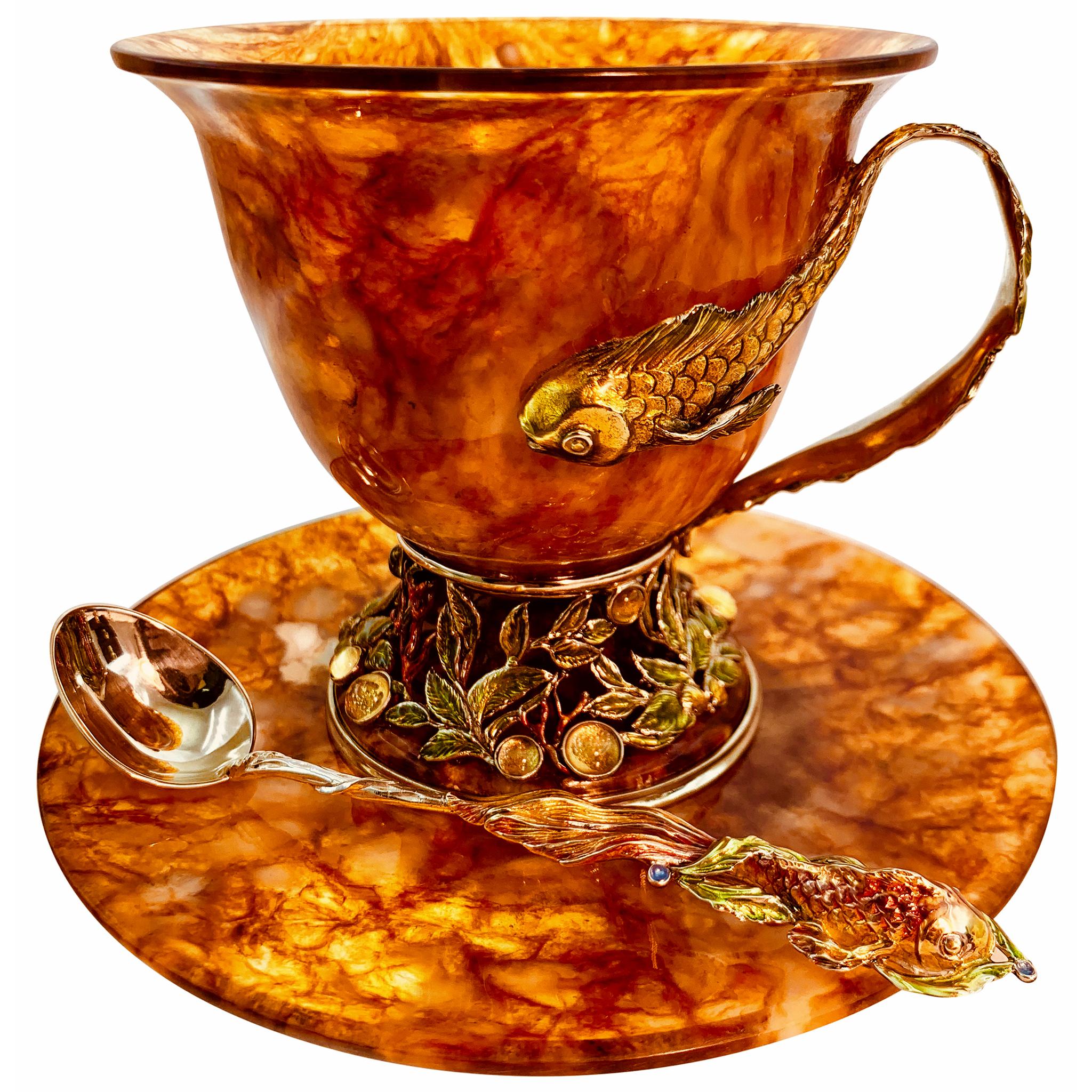 янтарная чайная пара