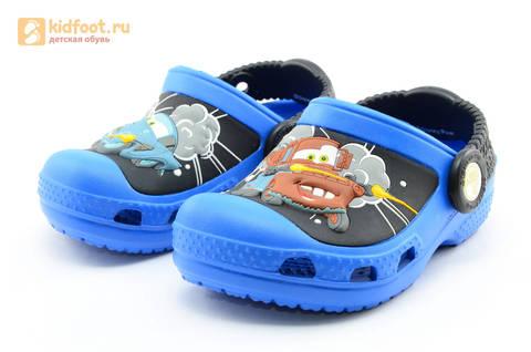 Сабо Крокс (Crocs) пляжные шлепанцы кроксы для мальчиков, цвет синий. Изображение 5 из 12.
