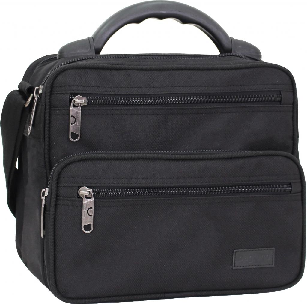 Сумки через плечо Мужская сумка Bagland Mr.Braun 8 л. Чёрный (0024066) a0a052b2340749617466e56d7b8e74ef.JPG