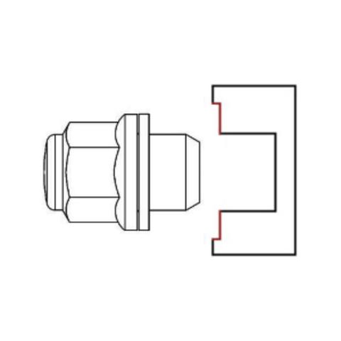Гайка колёсная М12x1.25 длина=49мм ключ=21мм с шайбой закрытая хром