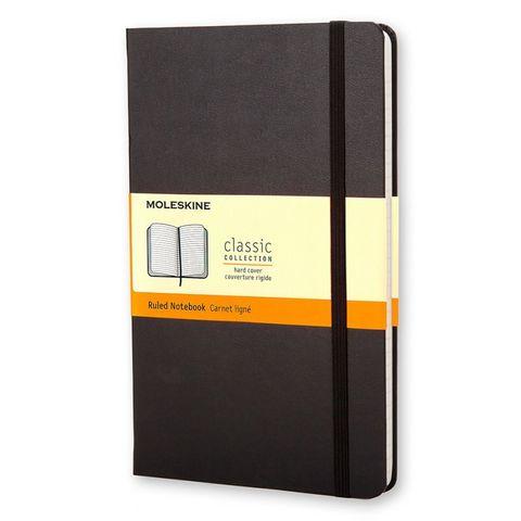 Блокнот Moleskine CLASSIC MM710 Pocket 90x140мм 192стр. линейка твердая обложка черный