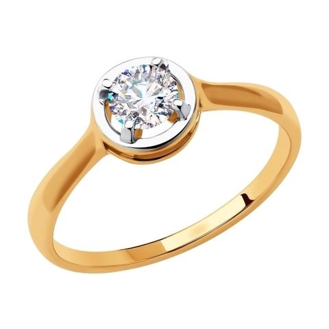 018415 - Кольцо из золота с фианитами