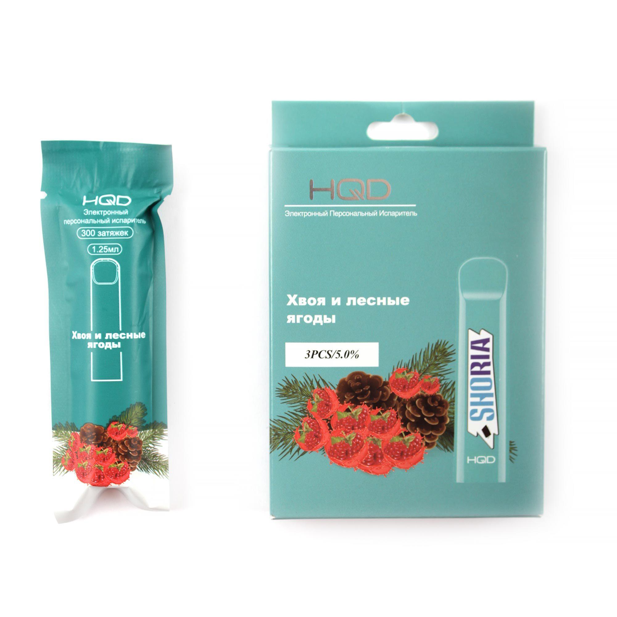Одноразовая электронная сигарета HQD Shoria (Мята, Хвоя, Лесные Ягоды)