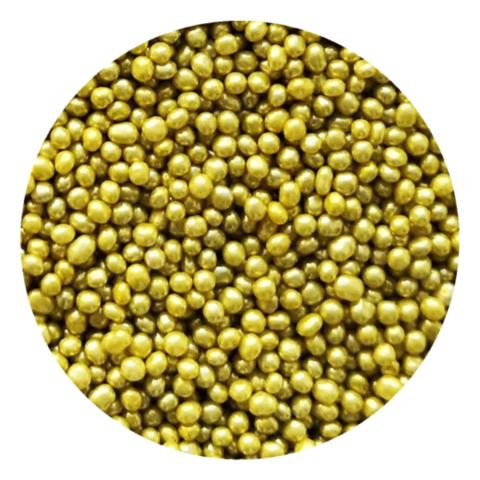 Посыпка шарики золотые металлизированные 2мм, 25г.