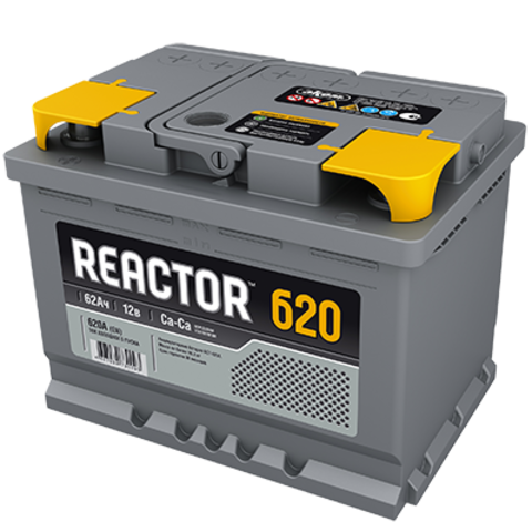 Автомобильный аккумулятор REACTOR 6СТ-62 АзЕ