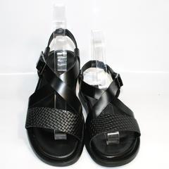 Мужские кожаные сандали Roberto Verbano 74609 Black.