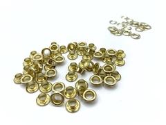 Люверсы металлические 5мм золото