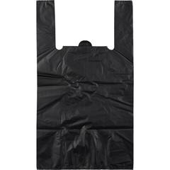 Пакет-майка Знак Качества ПНД усиленный черный 45 мкм (40+18x70 см, 50 штук в упаковке)