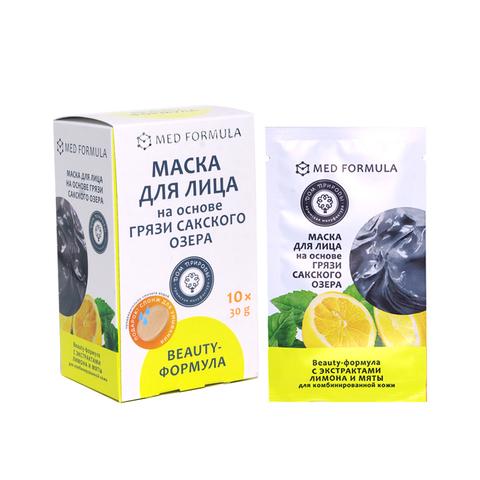 МДП Маски для лица на основе грязи Сакского озера BEAUTY-ФОРМУЛА (саше пакет 30г)