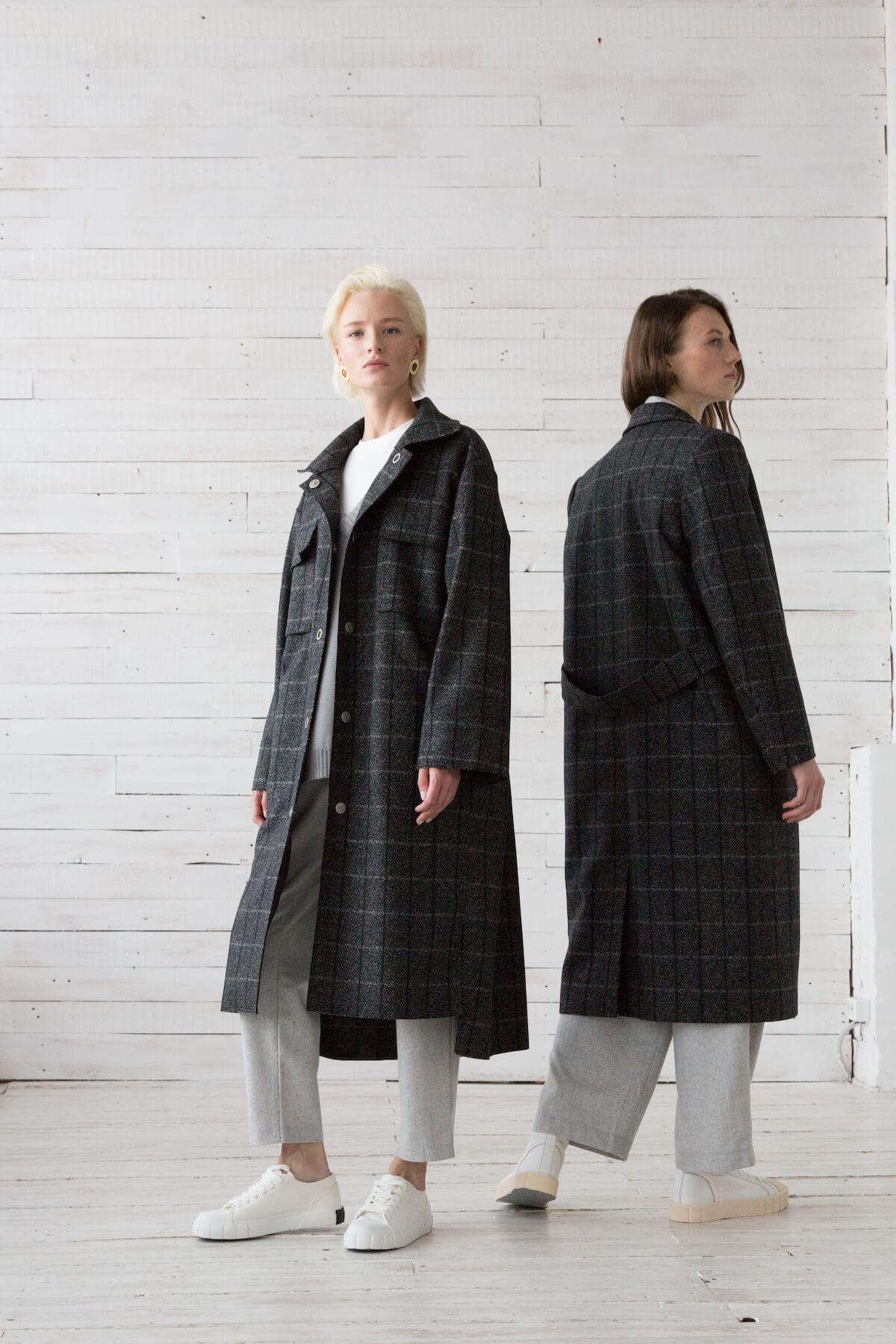 Пальто-пиджак удлиненное