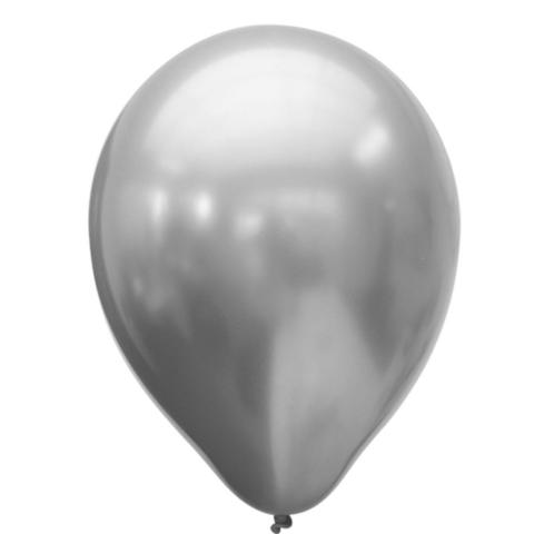 Шары надувные Хром PLATINUM Silver 25шт/уп M 11/28см 6072063
