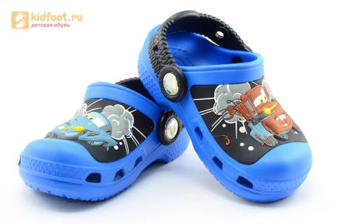 Сабо Крокс (Crocs) пляжные шлепанцы кроксы для мальчиков, цвет синий. Изображение 7 из 12.