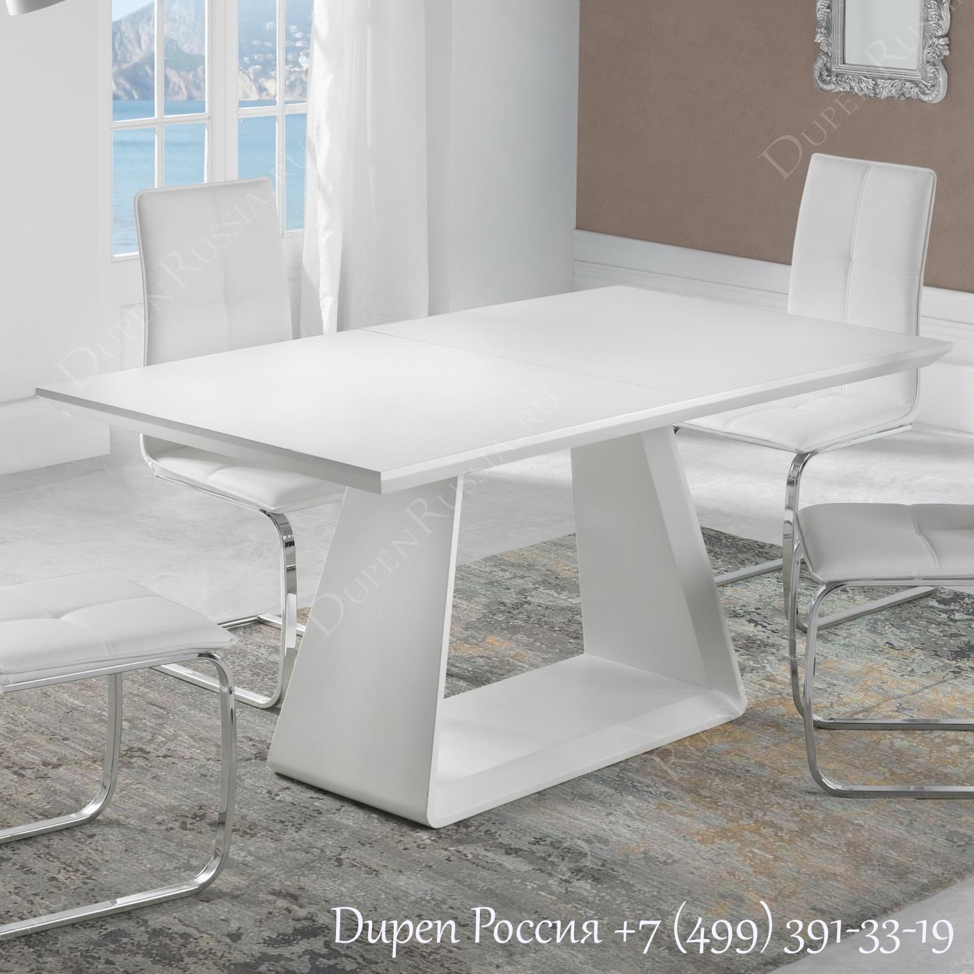 Обеденный стол DUPEN DT-22 Раскладной Белый полуматовый