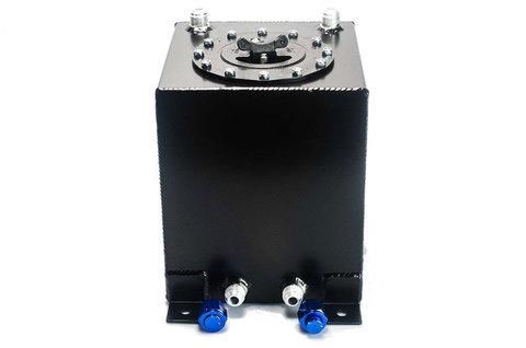 Алюминиевый бензобак 10 литров с фитингами без датчика