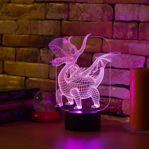 3D лампа Абстракция Дракоша