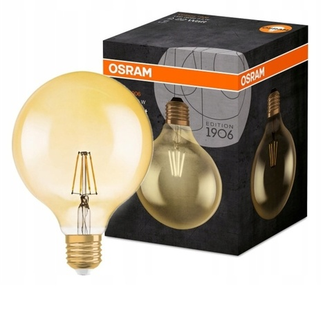 Лампа светодиодная OSRAM LS VINTAGE 1906 LED GLOBE 7W 230V E27 824