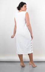 Венера. Женское платье большого размера. Белый.