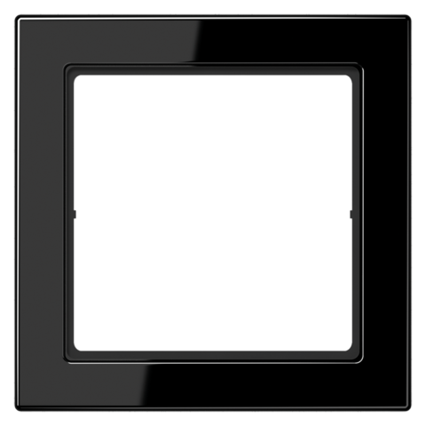 Рамка на 1 пост. Цвет Чёрный. JUNG FD - ДИЗАЙН. FD981SW
