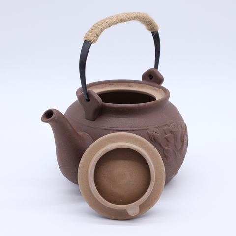 Чайник глиняный для кипячения  Чаочжоу с цветком, 700мл