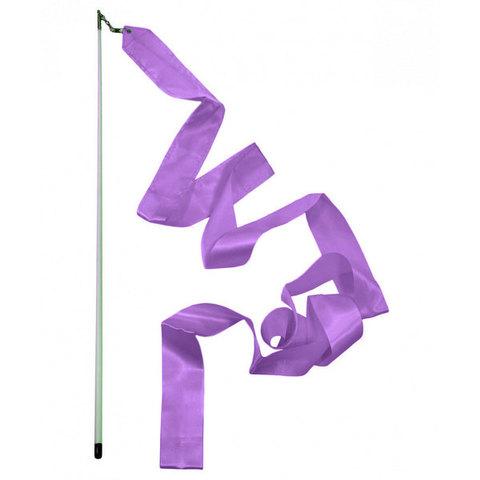 11753 Палочка для худ/гим с лентой 4м фиолетовая