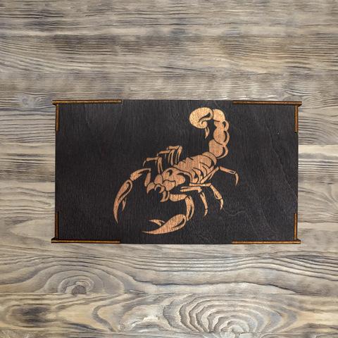 """Коробка № 2 """"Скорпион"""", черная"""