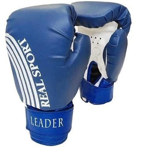 Перчатки боксерские LEADER  12 унций, синий (ЕвСп) (15411 син  12)