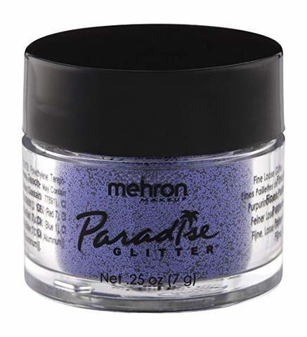 MEHRON Рассыпчатые блестки Paradise Glitter, Purple (Пурпурный), 7 г