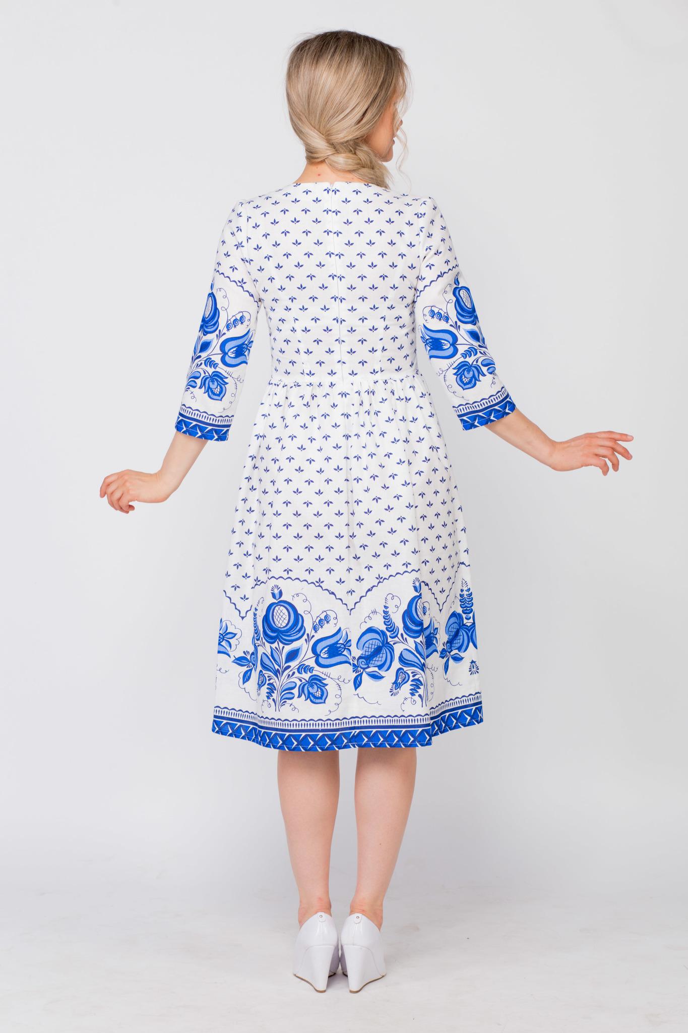 Платье Сказочная гжель вид сзади