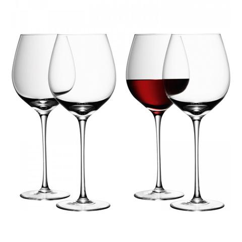 Набор из 4 бокалов для красного вина Wine 750 мл