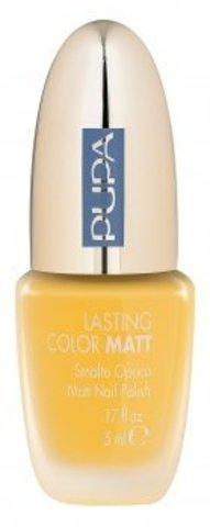 Pupa Лак для ногтей т.001 LASTING COLOR MATT матовый желтый