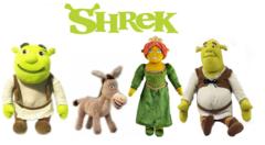 Шрек мягкие игрушки Шрек, Фиона и Осел