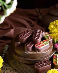 Форма поликарбонатная для шоколада батончик Кокосовый рай