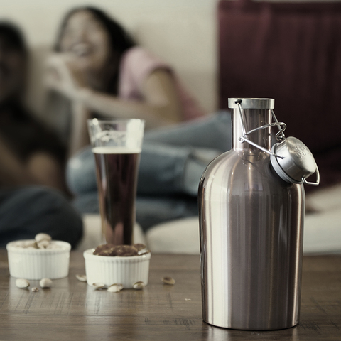 Гроулер для пива Asobu Beer (1,9 литра), стальной