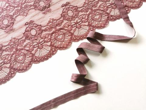 Эластичная бейка, 15 мм, кофейно-розовый, ( Арт: К205/15-885), м