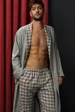 Длинный мужской халат из фланели Zimmerli