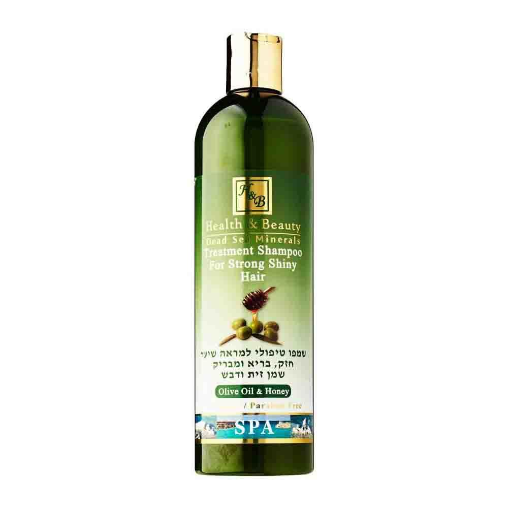 Шампунь для укрепления и оздоровления волос Treatment Shampoo for Strong Shiny hair с маслом оливы и меда