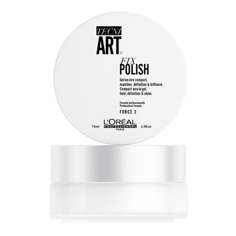 L'Oreal Professionnel Tecni.Art: Гель-воск для блеска и фиксации волос (Fix Polish), 75мл